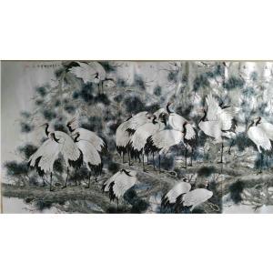 尹晓军国画作品《【松风鹤舞忘流年】作者尹晓军》价格24000.00元