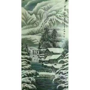 易剑赋国画作品《【老家初雪】作者易剑赋》价格2400.00元