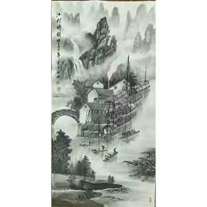 易剑赋国画作品《【江村】作者易剑赋》价格2400.00元