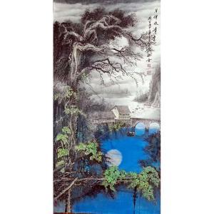 易剑赋国画作品《【月伴水清香】作者易剑赋》价格2880.00元