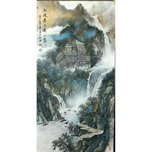 易剑赋国画作品《【春色秀人空】作者易剑赋》价格2880.00元