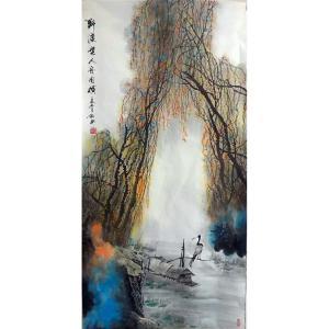 易剑赋国画作品《【野渡】作者易易剑赋》价格2880.00元