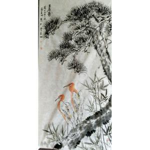 马青山国画作品《【三友图】作者马青山》价格480.00元