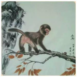 马新荣国画作品《【猴子】作者马新荣》价格800.00元