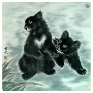 马新荣国画作品《【狗熊】作者马新荣》价格800.00元