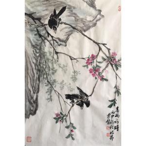 尹站前国画作品《【春雨初晴】作者尹站前》价格2400.00元