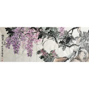 尹站前国画作品《【花鸟2】作者尹站前》价格4800.00元