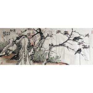 尹站前国画作品《【花鸟3】作者尹站前》价格4800.00元