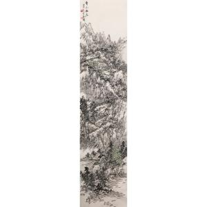 郎祎国画作品《【青山幽居】作者郎祎》价格14400.00元