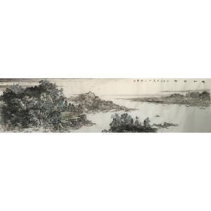 郎祎国画作品《【晴江访友】作者郎祎》价格14400.00元