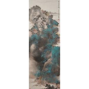 郎祎国画作品《【山水】作者郎祎》价格14400.00元