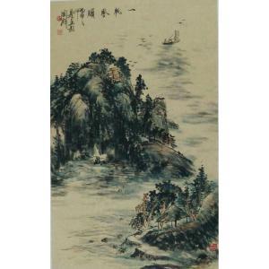 丁国祥国画作品《【山水10】作者丁国祥》价格1920.00元