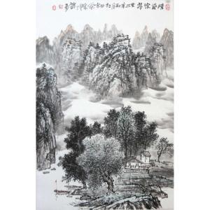 梁义勇国画作品《【山水1】作者梁义勇》价格14400.00元