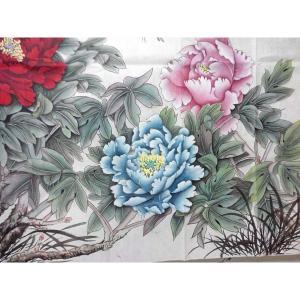 刘安同国画作品《【牡丹2】作者刘安同》价格11040.00元