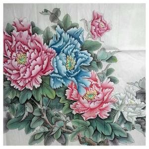刘安同国画作品《【牡丹5】作者刘安同》价格11040.00元