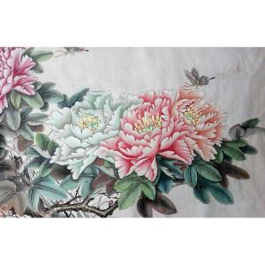 刘安同国画作品《【牡丹8】作者刘安同》价格11040.00元