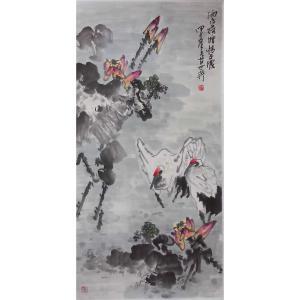 毛世英国画作品《【荷塘】作者毛世英》价格28800.00元