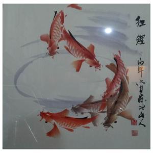 王学东国画作品《【红鲤】作者王学东》价格432.00元