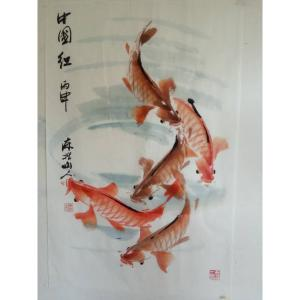 王学东国画作品《【中国红】作者王学东》价格360.00元
