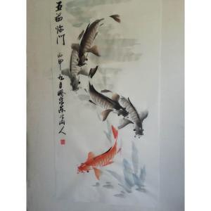 王学东国画作品《【五福临门2】作者王学东》价格480.00元
