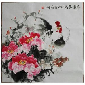 潘劲伸国画作品《【富贵吉祥1】作者潘劲伸》价格7200.00元