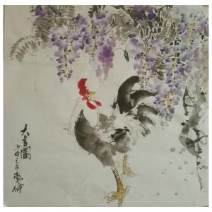 潘劲伸国画作品《【大吉利】作者潘劲伸》价格7200.00元