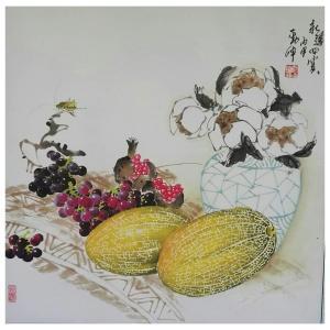 潘劲伸国画作品《【四宝】作者潘劲伸》价格7200.00元