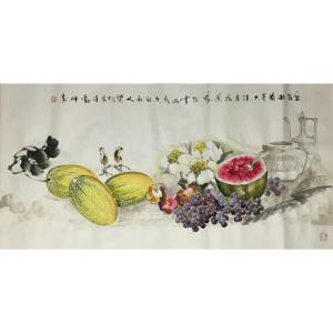 潘劲伸国画作品《【丰收1】作者潘劲伸》价格9600.00元