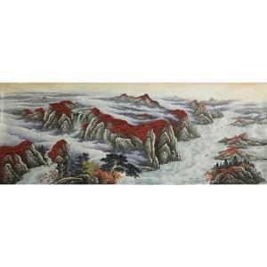 周马龙国画作品《【山水7】作者周马龙》价格312.00元