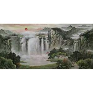 周马龙国画作品《【山水8】作者周马龙》价格312.00元