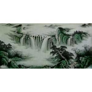 周马龙国画作品《【山水10】作者周马龙》价格312.00元
