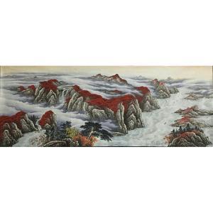 周马龙国画作品《【山水13】作者周马龙》价格312.00元