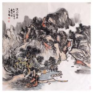 夏广怡国画作品《【溪山隐居1】作者夏广怡》价格4800.00元