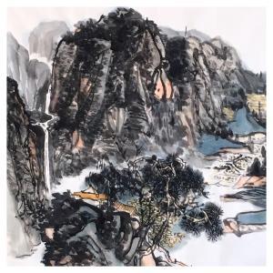 夏广怡国画作品《【溪山】作者夏广怡》价格4800.00元