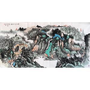 夏广怡国画作品《【青山行不尽】作者夏广怡》价格9600.00元