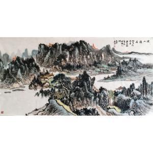 夏广怡国画作品《【溪山隐居2】作者夏广怡》价格9600.00元