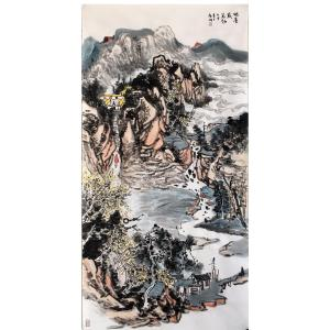 夏广怡国画作品《【地厚载万物】作者夏广怡》价格18720.00元