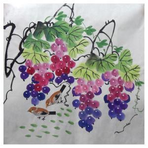朱德宾国画作品《【多子多福】作者朱德宾》价格200.00元