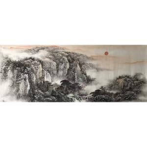 许国华国画作品《【山水4】作者许国华》价格1200.00元