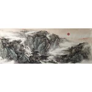 许国华国画作品《【山水9】作者许国华》价格1200.00元