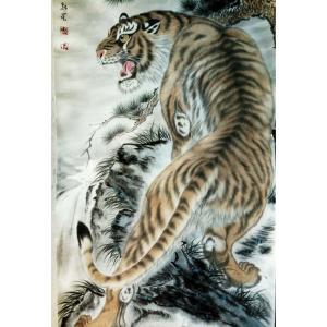 马新荣国画作品《【老虎2】作者马新荣》价格3360.00元