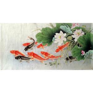 胡记领国画作品《【连年有余2】作者胡记领》价格1080.00元