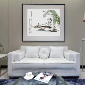 窦世魁国画作品《【独坐弹琴】作者窦世魁》价格50000.00元