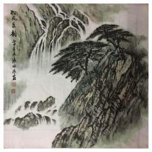 张怀林国画作品《【松风泉韵2】作者张怀林》价格312.00元