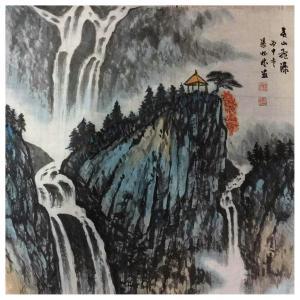张怀林国画作品《【泰山飞瀑2】作者张怀林》价格312.00元