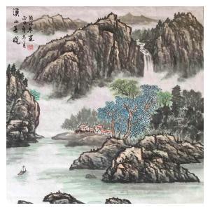 张怀林国画作品《【溪山春晓】作者张怀林》价格312.00元