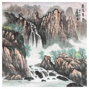 张怀林国画作品《【泉落青山】作者张怀林》价格312.00元