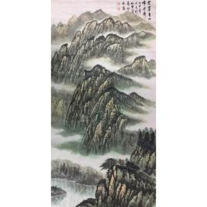 张怀林国画作品《【雲罩青山峰更秀】作者张怀林》价格672.00元