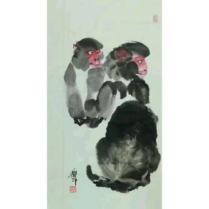 冯耀午国画作品《【猴】作者冯耀午》价格12000.00元