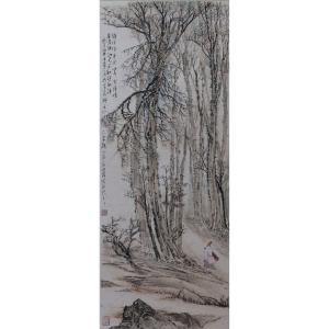 高顺岭国画作品《【幽静】作者高顺岭》价格9600.00元